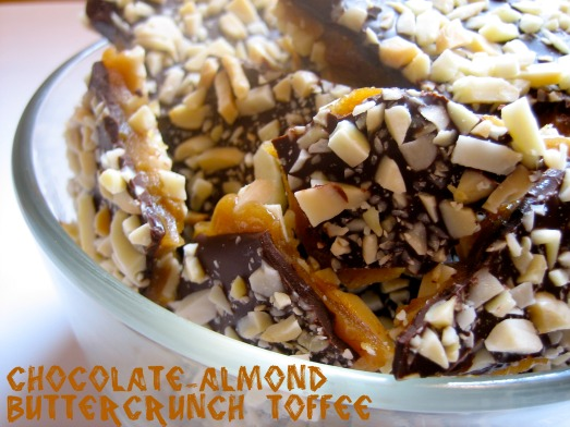 Chocolate-Almond Buttercrunch Toffee 1
